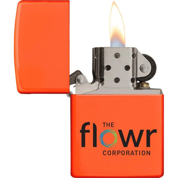 Orange Neon Neon Color Windproof Zippo Lighter
