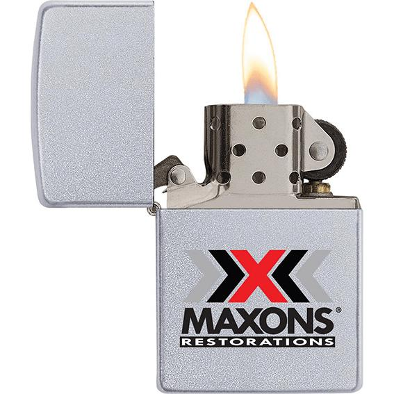 Chrome Satin Chrome Zippo Windproof Lighter