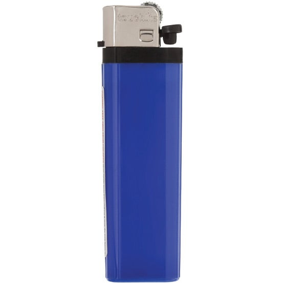 Blue Solid Colored Standard Flint Cigarette Lighter
