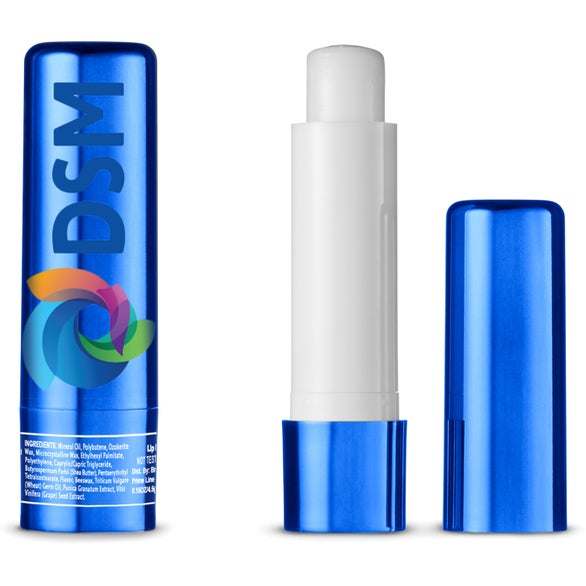 Blue Geo Metallic Lip Moisturizer in Tube