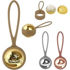 Metallic Lip Moisturizer Ball with Holder