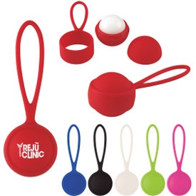 Rubberized Lip Moisturizer Balls with Holder