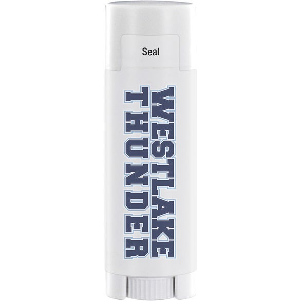 White SPF 15 Lip Balm in White Oval Tube