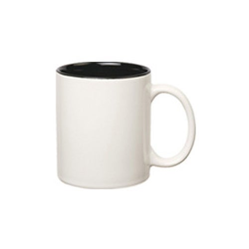 White / Black Ceramic Mug with Candy Fill