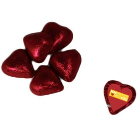 Individually Wrapped Chocolate Heart