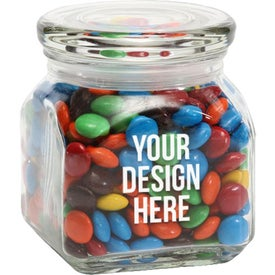 M&Ms Plains in Small Glass Jar