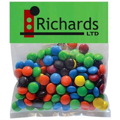 Full Color Imprint Plain M&Ms in Small Header Pack