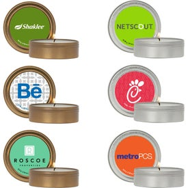 Scented Candle in Screw-Top Metal Tin (2 Oz.)