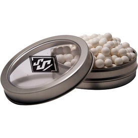 Short Round Candy Window Tin