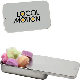 Slider Tins with Conversation Hearts