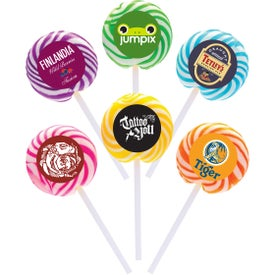 Swirl Lollipop with Round Label