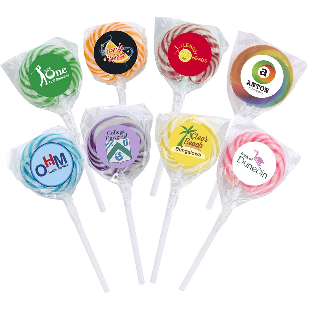 Swirl Lollipop with Round Label