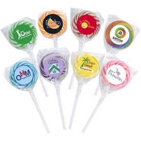 Swirl Lollipops with Round Label