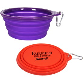 Collapsible Travel Pet Bowls with Carabiner (32 Oz.)