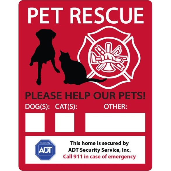 Full Color Imprint Emergency Rescue Window Decal