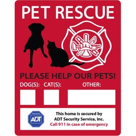 Emergency Rescue Window Decals