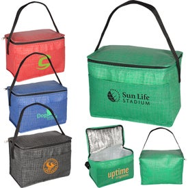 6 Pack Tonal Non-Woven Cooler Bag