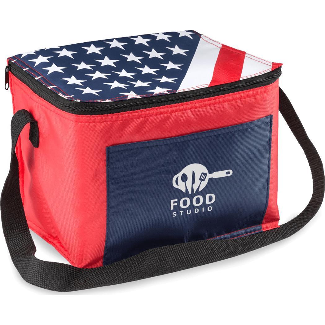 American Flag Lunch Bag
