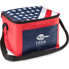 American Flag Lunch Bag
