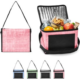 Denim Pattern Non-Woven 6 Pack Lunch Bag