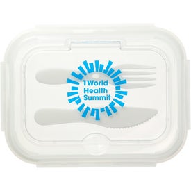 Glass Food Storages with Utensils (1000 mL)