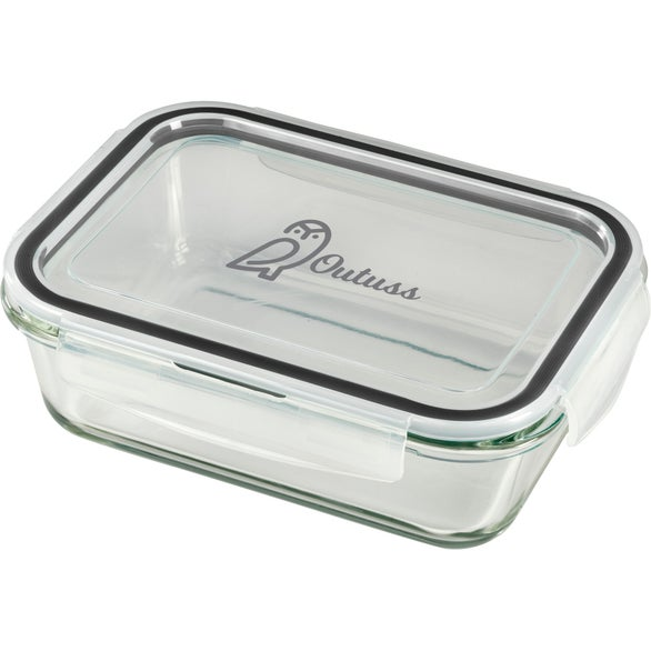 Clear Glass Leakproof 875ml Food Storage Container