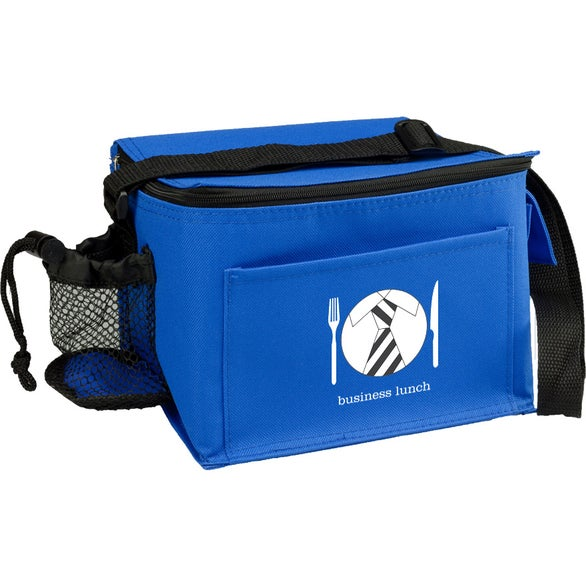 Royal Blue Insulated Polyester Lunch Bag