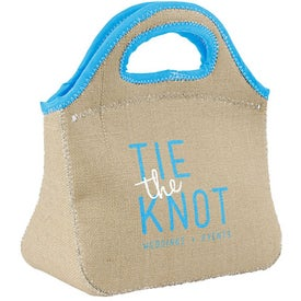 Klutch Burlap-Neoprene Lunch Bags