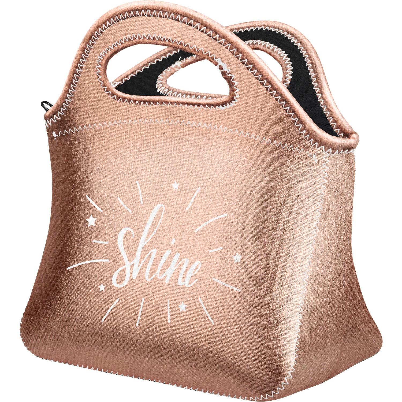 Rose Gold Klutch Metallic Neoprene Lunch Bag Company