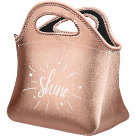Klutch Metallic Neoprene Lunch Bag
