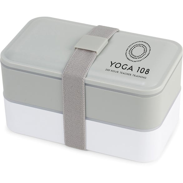 Gray / White Kyoto Bento Lunch Box
