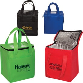 Non-Woven Cubic Lunch Bags with ID Slot