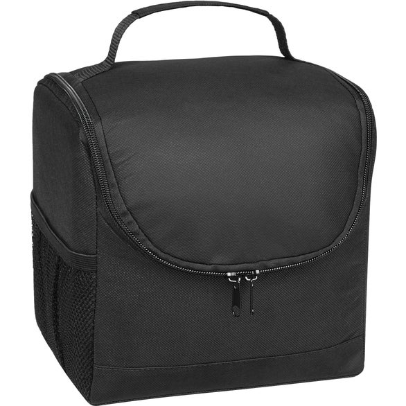 Black Non-Woven Thrifty Lunch Kooler Bag