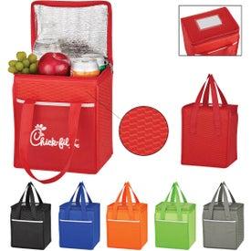 Non-Woven Wave Design Kooler Lunch Bag