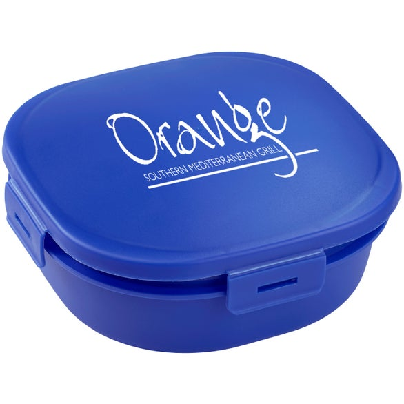 Blue Salad-To-Go Container