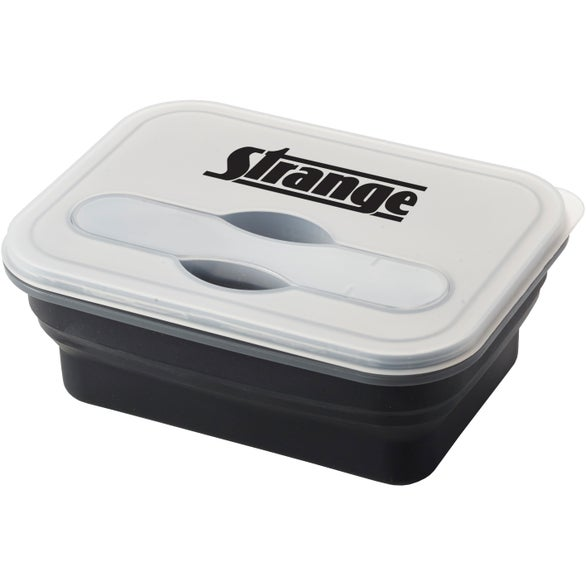 Black / Frosted Silicone Collapse-It Lunch Container