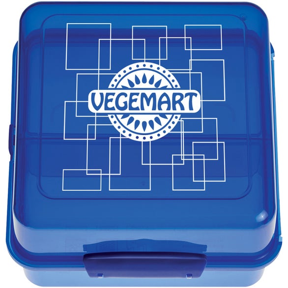 Translucent Blue Split Level Lunch Container