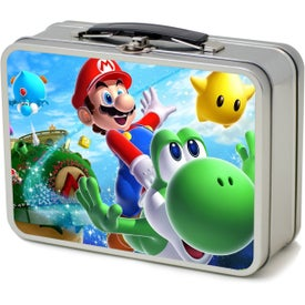 Thin Retro Lunch Box