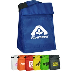 Velcro Closure Insulated Lunch Bag