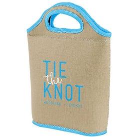 Venti Burlap-Neoprene Lunch Bag