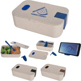 Wheat Lunch Set With Phone Holder