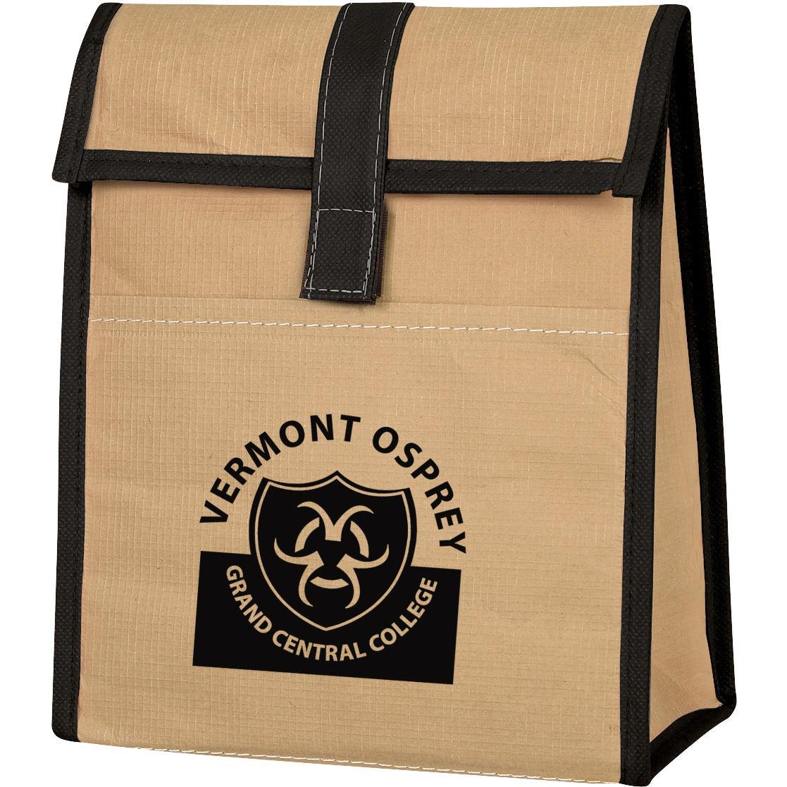 Woven Paper Lunch Bag Custom