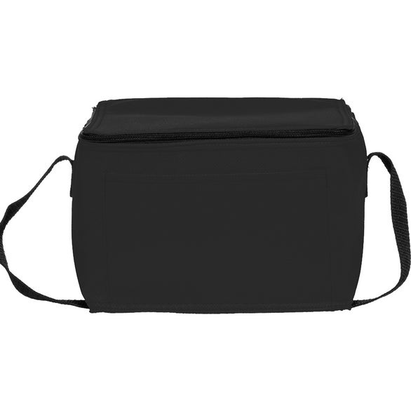 Black Zipper Top Insulated Lunch Bag