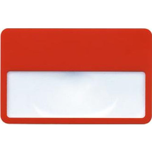 Red Credit Card Size Magnifier