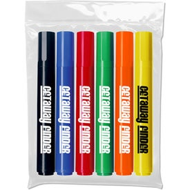Chisel Tip Permanent Markers (6 Pack)