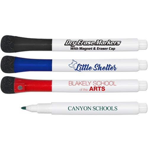 Dry Erase Markers with Eraser and Magnetic Cap