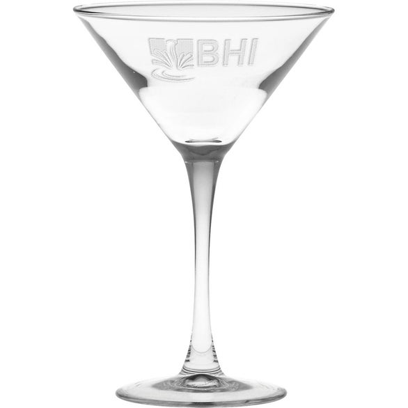 Clear Classic Deep Etched Stem Martini Glass