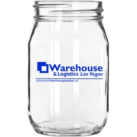 Mason Jar without Handles (16 Oz.)
