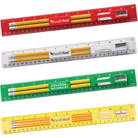 "Plastic Ruler Stationary Kit (12"")"