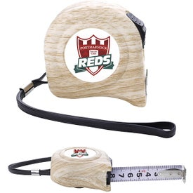 Wood Pattern Tape Measure with H Hooks (16. Ft.)